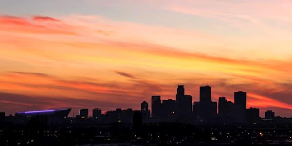 Minneapolis Sunset Silhouette - Minneapolis Cityscape | William Drew