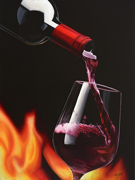 Ohh Wine Art | MMG Art Studio | Fine Art Colorado Gallery