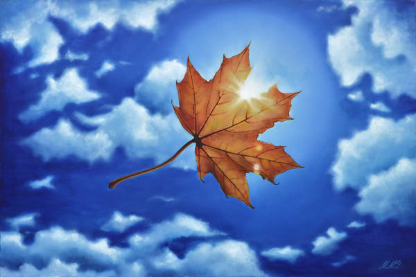 Leaf In The Sun Art | MMG Art Studio | Fine Art Colorado Gallery