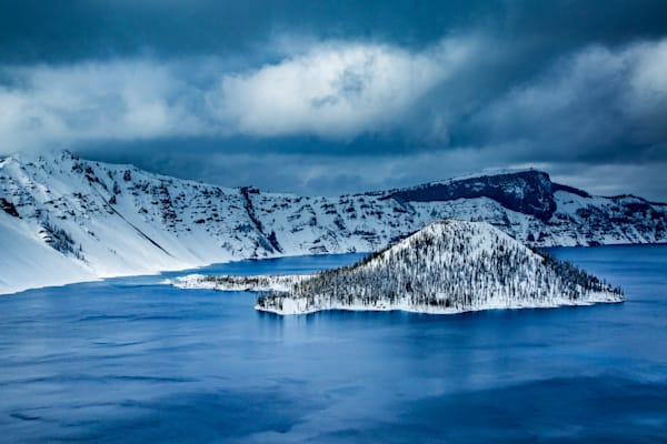 Wizard Island In Winter Photography Art | Lovere Photography