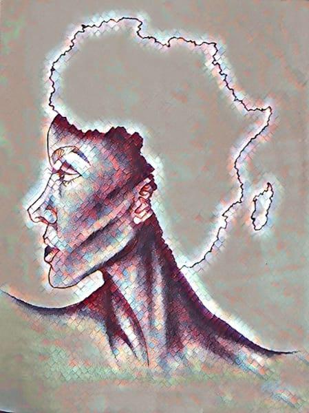 """Mother Land"" (Mosaic Style) Art | Jamila Art Gallery"