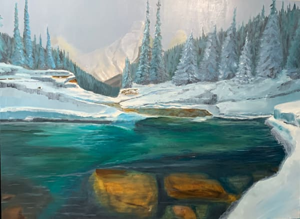 Winter Pool **Sold** Prints Available    Dave Fox Studios