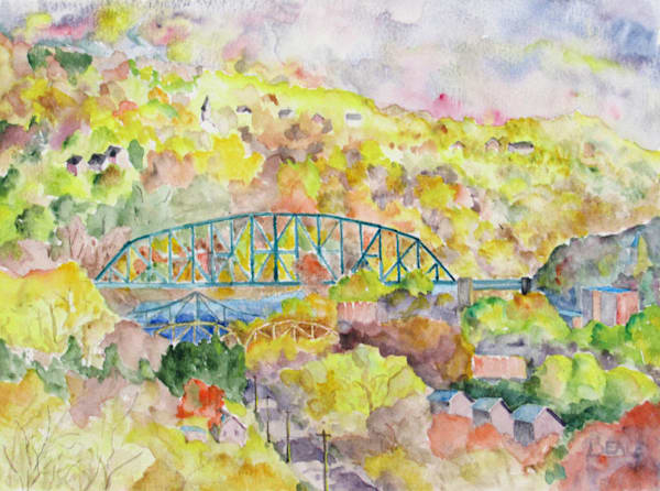 Easton Bridges In Autumn Art | David Beale