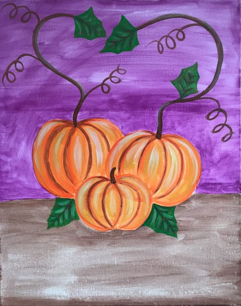Pumpkins Art by paulamanninglewis
