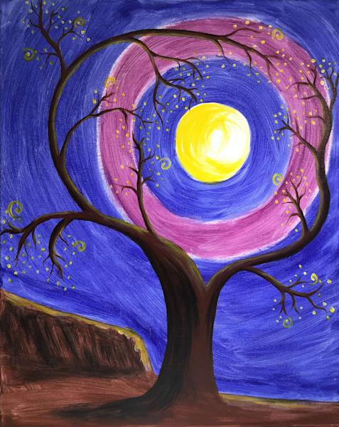 Tree with Moon