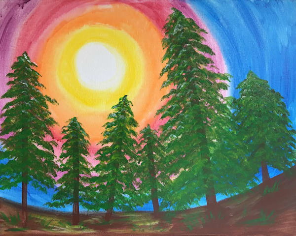 Forest Trees Art | Manning-Lewis Studios, LLC.