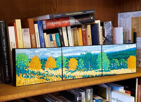 Small Trees Along The Ridge Art by Jim Pescott Art