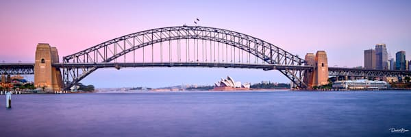Dusk On Sydney Harbour Photography Art by David Beavis Fine Art