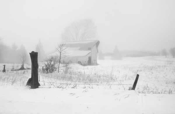 Foggy Snowy Morning / Shop fine art photography by An Artist's View Photography