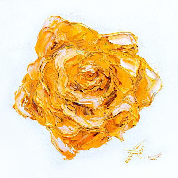 Yellow Rose Painting Giclee | Fer Caggiano Art
