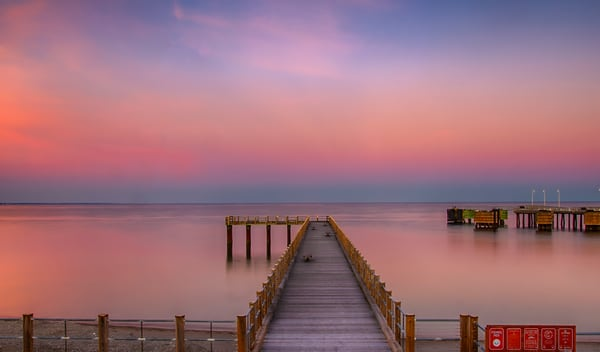 Magenta Fishing Pier Art | Michael Blanchard Inspirational Photography - Crossroads Gallery
