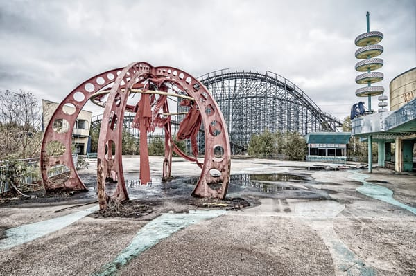 Abandoned Six Flags Jazzland — New Orleans photography prints