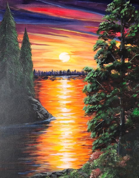 Sunset At The Oasis Art | House of Fey Art