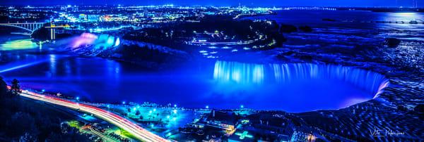 Niagra Falls Dusk Aerial View Photography Art | vitopalmisano