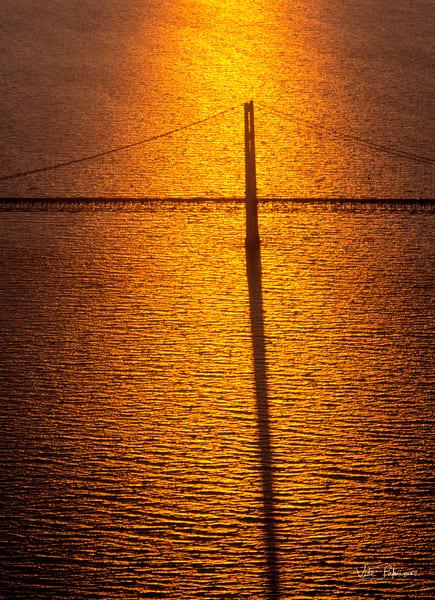 Mackinaw Bridge Sunset Mi  Photography Art | vitopalmisano
