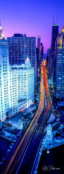 Magnificent Mile Twilight Chicago Il Photography Art | vitopalmisano