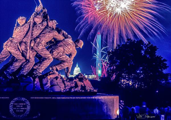 Iwo Jima Memorial Va Fireworks Photography Art | vitopalmisano