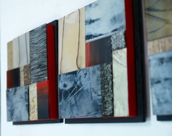 Small  Red/Black Series  (Originals) Art | Laurie Fields Studio