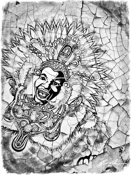 """Rebirth Of Lost Memories"" (Big Chief Black And White) Art | Jamila Art Gallery"
