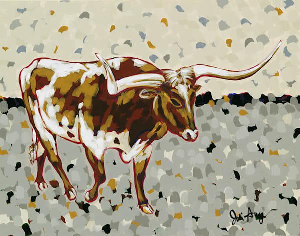 Longhorn, an original acrylic painting by Jodi Augustine.