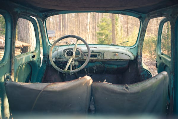 Car In A Lithuanian Forest Photography Art | Martin Geddes Photography