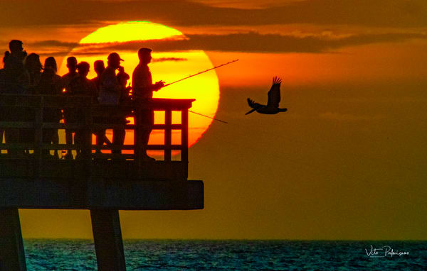 Naples Pier Fisherman Photography Art | vitopalmisano