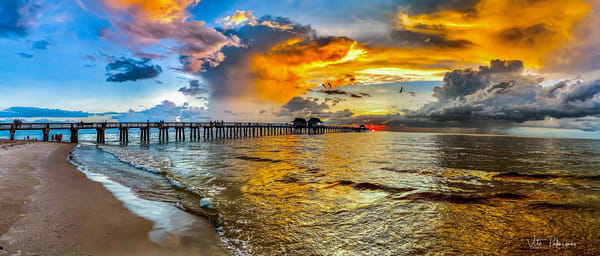 Naples Pier Sunset Photography Art | vitopalmisano
