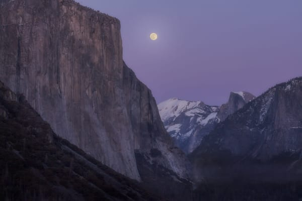 Full moon rising over Yosemite Valley by Yosemite photographer Charlotte Gibb