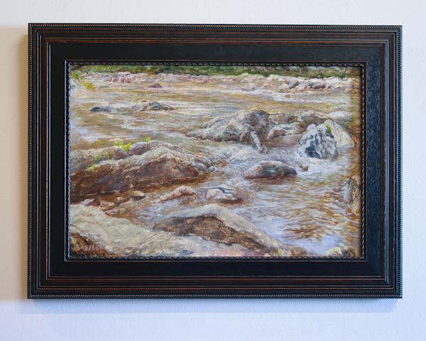 Scene from the Ledges - Original Oil Painting for Sale - River Landscape Painting - Art of Jason Rafferty - Asheville NC