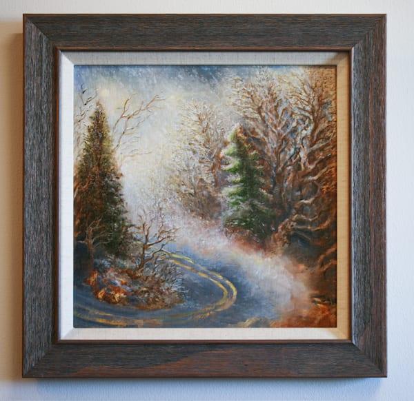 Appalachian Snowstorm - Original Oil Painting for Sale - Winter Blue Ridge Mountains Landscape - Art of Jason Rafferty - Asheville NC