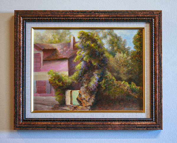Wisteria - Orginial Oil Painting for Sale - French Landscape Impressionist Style - Art of Jason Rafferty - Asheville NC