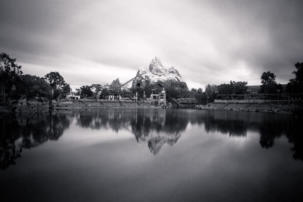 Expedition Everest Calm Reflections Black and White - Expedition Everest
