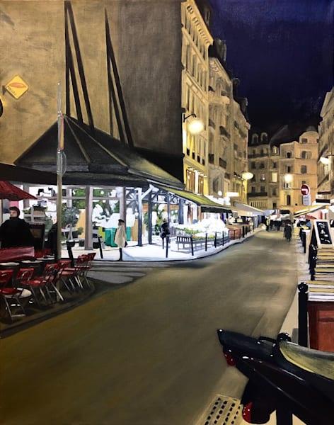 Parisian Florist, Night Art | Brendan Kramp Studio & Workshop