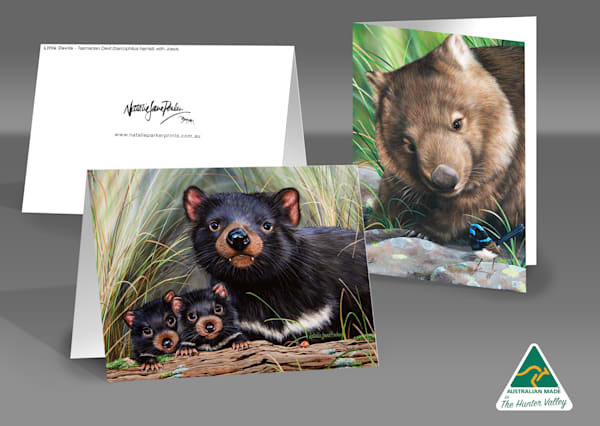 Greeting Card Set of 5 - Featuring Australian Native Wildlife by Natalie Jane Parker