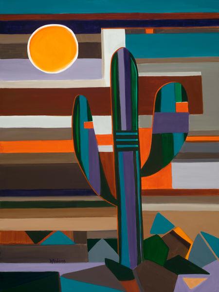 Saguaro Klee Painting by Diana Madaras