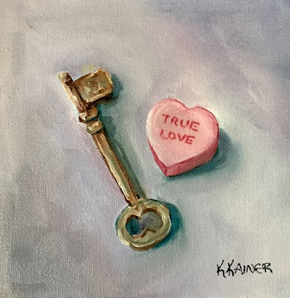 Key to My Heart by Texas Artist Kristine Kainer