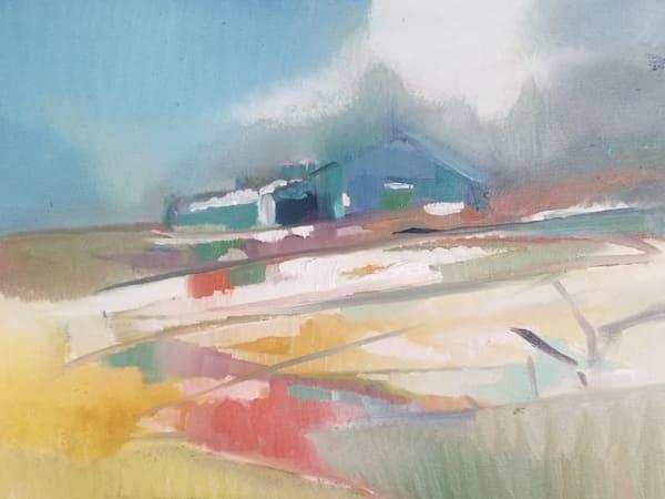 Frosted, oil painting, farm, rural art, farm art, rural landscape, massachusetts,kitchen art, barn, new england, barn