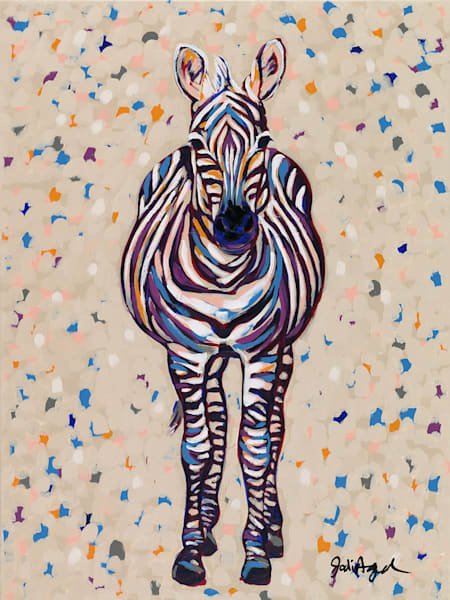 Fruit Stripe, an original acrylic painting by Jodi Augustine.