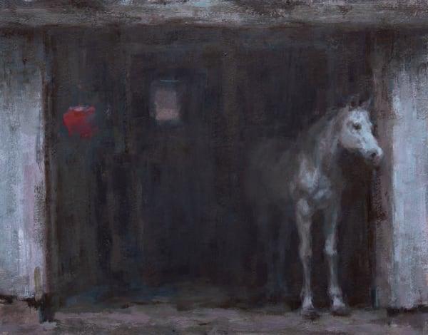 Horse Peeking Out