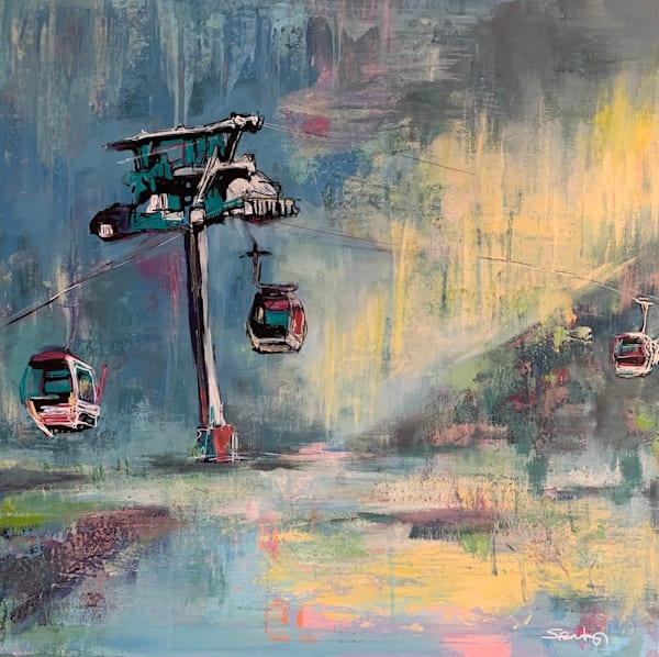 Ski Lift Iv Art | Atelier Steph Fonteyn