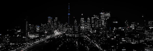 Toronto Skyline B&W Photography Art | FocusPro Services, Inc.