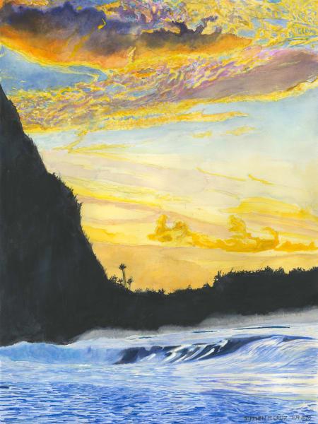 Late Afternoon At The Foot Of Mount Makana Art | CruzArtz Fine Arts