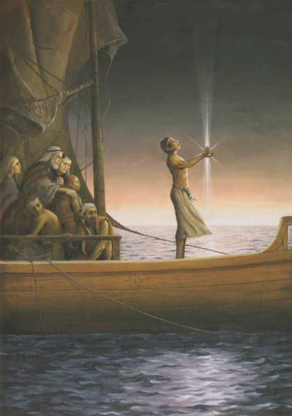 Nephi with the Liahona