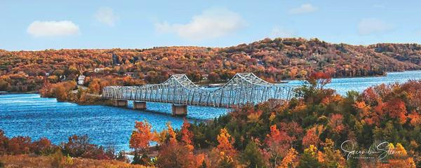 JStoner Blue Water Autumn Bridge