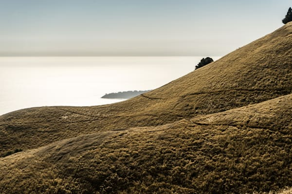 Late Afternoon on Mt. Tam - California coast ocean view Mt. Tamalpais photograph print