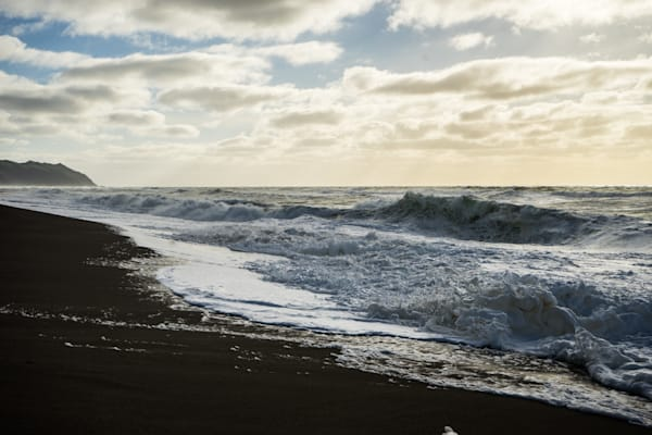 Storm Waves - California winter beach photograph print