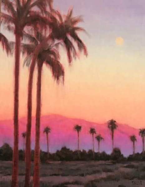 Moonrise Over The Palms Art | Terry Sauve Fine Art