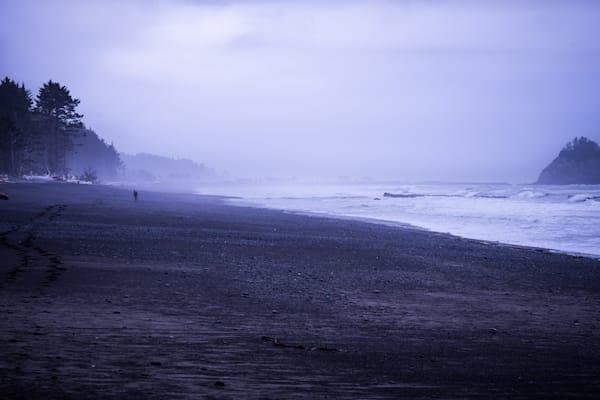 Solitude - foggy morning Washington coast photograph print