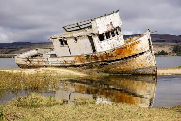 No Longer - Shipwreck Northern California coast photograph print