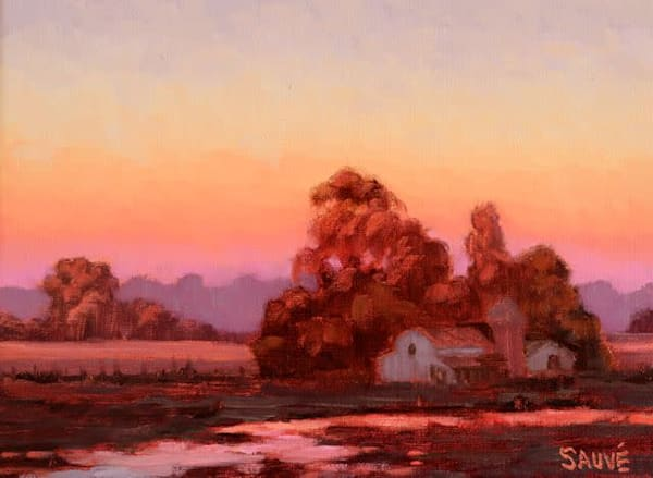 Evening Glow On The Ranch  Art | Terry Sauve Fine Art
